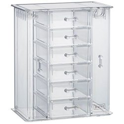 Beautify Acrylic Jewelry Organizer Chest / Makeup Storage Box with 6 Drawers & Hanging Neckl ...