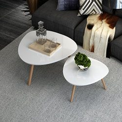 INLYF Nesting End Tables, Corner Stacking Tea Table, Modern Furniture Decor Side Coffee Table fo ...