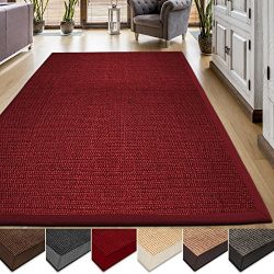 casa pura Area Rug | Sisal Non-Slip Rug for Living Room or Bedroom | Environmentally-Friendly 10 ...