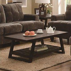 Coaster Home Furnishings 701868 Casual Coffee Table, Cappuccino