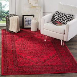 Safavieh Adirondack Collection ADR108F Red and Black Oriental Vintage Area Rug (6′ x 9′)