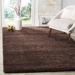 Safavieh Milan Shag Collection SG180-2525 Brown Area Rug (5'1″ x 8′)