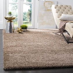Safavieh Milan Shag Collection SG180-1414 Dark Beige Area Rug (8′ x 10′)