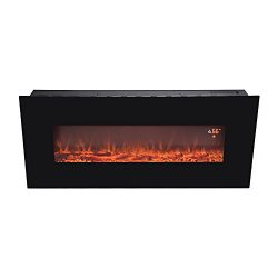 BEAMNOVA 50″ Electric Wall Mounted Fireplace Heater Smokeless Ventless Adjustable Heat, LE ...