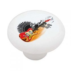 Winged Electric Guitar High Gloss Ceramic Drawer Knob