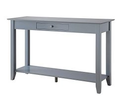 Convenience Concepts American Heritage Console Table with Drawer, Gray