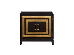 Pulaski Modern Accent Door Chest Black