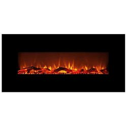 FLAME&SHADE Electric Fireplace, Wall Fireplace Heater, Freestanding or Wall Mount, with Remo ...