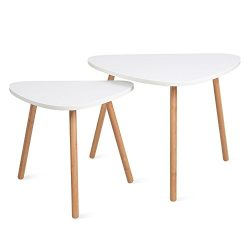 HOMFA Nesting Coffee End Tables Modern Furniture Decor Side Table for Living Room Balcony Home a ...