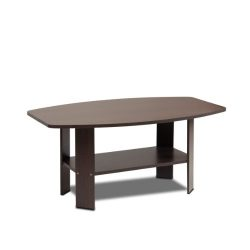 Furinno 11179DBR Simple Design Coffee Table, Dark Brown