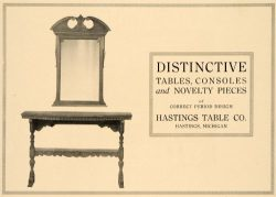 1918 Ad Hastings Table Console Mirrors Period Furniture – Original Print Ad