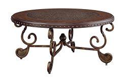 Ashley Furniture Signature Design – Rafferty Coffee Table – Cocktail Height –  ...