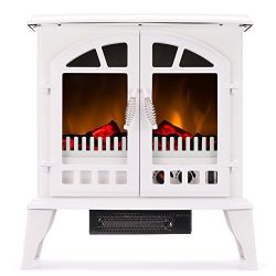 Jasper Portable Free Standing Electric Fireplace Stove by e-Flame USA – 23-inches Tall – Winter  ...