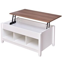 Tangkula Lift Top Coffee Table Modern Living Room Furniture with Hidden Compartment and Lift Tab ...