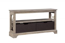 Food & Wine Harvest Collection Sofa Table, Natural Wash