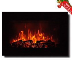 Homeleader 35″ Electric Fireplace,Electric Fireplace Heater With Remote Control,Wall Mount ...