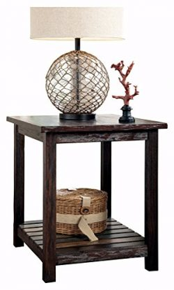 Ashley Furniture Signature Design – Mestler Chairside End Table – Rectangular &#8211 ...