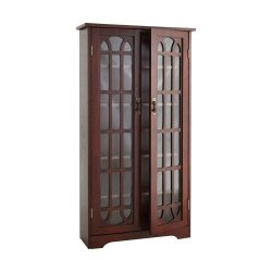 Window Pane Media Cabinet – Cherry