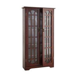 Window Pane Media Cabinet – Cherry