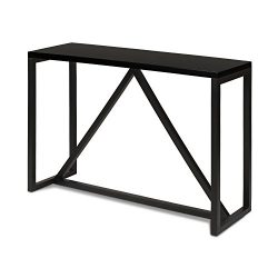 Kate and Laurel Kaya Wood Console Table, Black