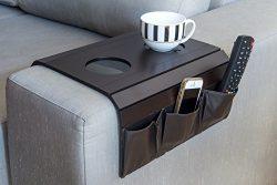 Sofa Arm Tray Table Model: 12992. TV Remote Control Organizer Holder, Arm Rest Organizer, Best Q ...