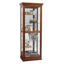 Pulaski Two Way Sliding Door Curio Cabinet, 30″ x 20″ x 79″