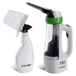 ITTAHO MJ1402A Window Vacuum Cleaner Kit Included Squeegee, Spray Bottle, Microfiber Head, Exten ...