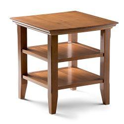 Simpli Home Acadian End Side Table, Honey Brown