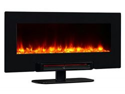 PuraFlame Provo 36- Inch Remote Control Portable & Wall Mounted Flat Panel Fireplace Heater, ...