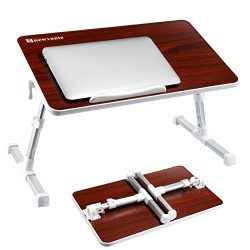 NNEWVANTE Adjustable Laptop Table for Bed, Portable Standing Bed Desk, Foldable Sofa Breakfast T ...