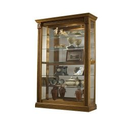 Pulaski Two Way Sliding Door Curio, 43 by 17 by 80-Inch, Medium Brown