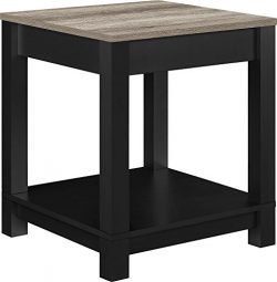 Ameriwood Home Carver End Table, Black