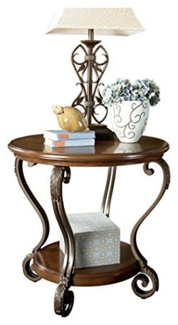 Ashley Furniture Signature Design – Nestor End Table – Traditional Vintage Style &#8 ...