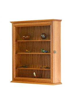 African Mahogany Curio Display Case Cabinet *Made in the USA*