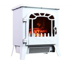 3G Plus Free Standing Electric Fireplace Portable Heater Log Fuel Effect Realistic Flames Mini S ...