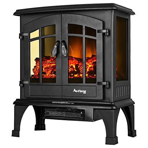 Jasper Portable Free Standing Electric Fireplace Stove By E Flame Usa 23 Inches Tall Matte