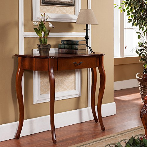 All Things Cedar Curved Console Table, Cherry