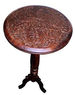 Cotton Craft – Jaipur Solid Wood Handcrafted Carved Folding Accent Coffee Table – Ch ...
