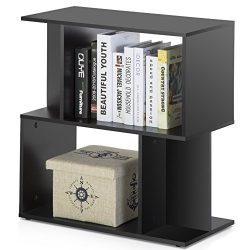 Homury Modern Wood End Side Table Coffee Table Bookcase Storage Shelving Stand Bookshelf Media S ...