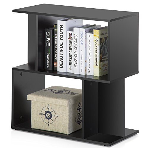 Homury Modern Wood End Side Table Coffee Table Bookcase