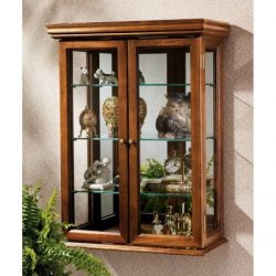 Country Tuscan Style Hardwood Wall Curio Living Room Office Bedroom Entryway Cabinet Furniture