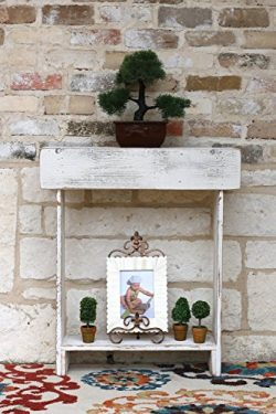 White Skinny Wall Table