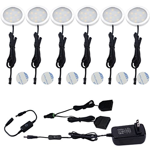 Aiboo Under Cabinet Led Puck Lights Kit With Touching