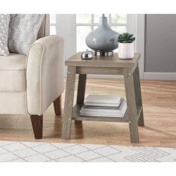 Logan Side Table, Color Rustic Oak