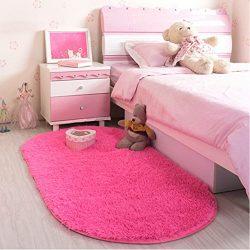 LOCHAS Ultra Soft Children Room Mat Morden Shaggy Area Rugs Home Decor, 2.62 Feet X 5.24 Feet (R ...