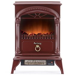 Hamilton Portable Free Standing Electric Fireplace Stove by e-Flame USA – 22-inches Tall – Rusti ...