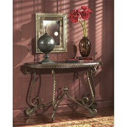 Ashley Furniture Signature Design – Rafferty Sofa Table – Traditional Style Entertai ...