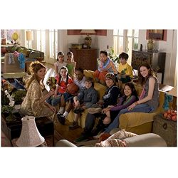 Yours, Mine & Ours 8×10 Photo Rene Russo Seated on Coffee Table Talking to Kids on Sofa kn