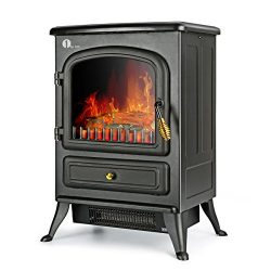 1byone Electric Fireplace Stoves, Fake Electric Fireplace, Electric Fireplace Heater Corner Fire ...