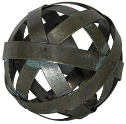Metal Ball Sphere Decorative,(Coffee Table, Accent, Bowl) | by Urban Legacy (4 inch)